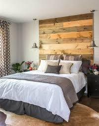 bedroom beige bedroom with reclaimed wood headboard also white