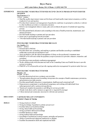 family nurse practitioner resume templates psychiatric nurse practitioner resume sles velvet jobs