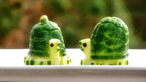 Food Decoration Images Art In Cucumber Turtles Vegetable Carving Garnish Party Food