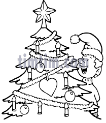 free drawing of christmas tree bw1 from the category christmas