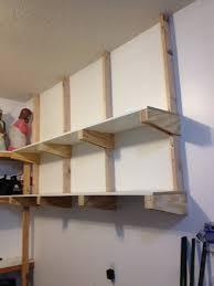 cabinets garage storage ideas grey brick wall cement floor wooden minimalist garage shelves furniture design to organize your tools cool garage storage ideas with wooden