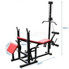 Multi Gym Bench Press Genki Fitness Multi Station Weight Bench Press Incline Barbell