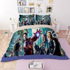 set of bed linen 3d ironman captain bedroom set king queen twin
