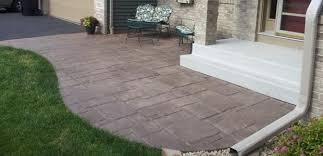 Decorative Concrete Patio Contractor Stamped Concrete Patio Andover Minnesota Unlimited Concrete Concepts