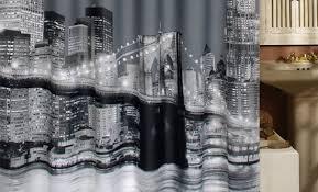 Manhattan Curtains Patterned Shower Curtains