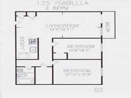 House Plans 2 Bedroom Open Floor Plans 2 Bedroom 2 Bedroom Floor Plans For 700 Sq Ft