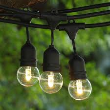 100 ft black commercial medium string light w suspender led g50