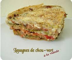 cuisiner un choux vert lasagnes de chou vert à la viande cuisine et dépendances