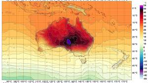 temperature map record heat forces australia to add colors to temperature map