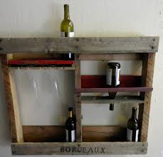 rustic wall mounted wood wine rack bottle holder for decor bar