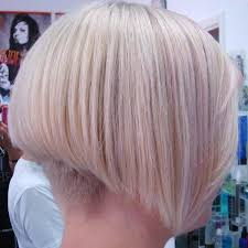 the bob haircut style front and back inverted bob with hair sheared at the back with a razor haircuts