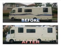 rv paint job with less than 2 gallons of rustoleum only 50