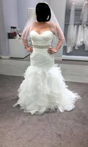 organza wedding dress david s bridal organza mermaid wedding dress with ruffled skirt