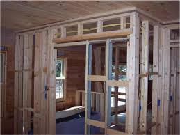 pocket doors installation process picture with angled door jamb