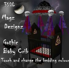 Gothic Baby Cribs by Second Life Marketplace Magz Dezignz Gothic Baby Crib