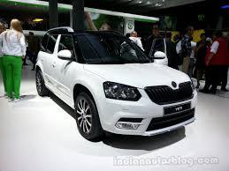 skoda yeti 2014 2014 skoda yeti style front left indian autos blog