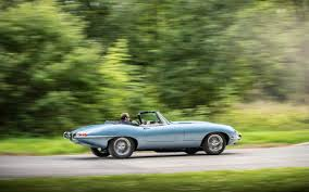 jaguar car icon jaguar e type zero restored british classic goes all electric cars