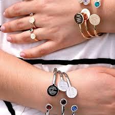 Monogrammed Bangle Bracelet Monogram Bar Necklace Rose Gold Monogram From Backzerodesign On