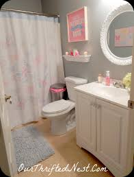 interior blue and pink bathroom designs with charming bathroom