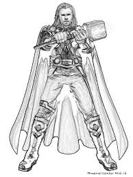 avengers coloring pages thor eliolera com