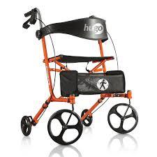 senior walkers with seat hugo sidekick side folding rollator walker with seat sidekick