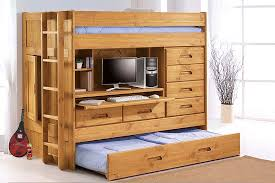 Bunk Bed With Trundle And Drawers Loft Bed With Trundle Storage Loft Bed Design Loft Bed With