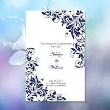 catholic church wedding program catholic church wedding program kaitlyn navy blue 8 5 x 11 fold