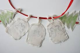 ornaments set of 5 handmade shabby chic dinky