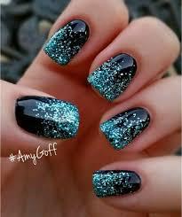 25 elegant black nail art designs black nails silver glitter