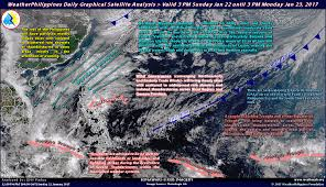Lightning Strikes Map Weatherphilippines Daily Graphical Satellite Analysis From 3pm Jan