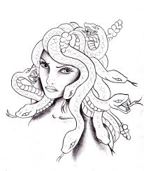 medusa coloring pages deviantart more penetrating the looking
