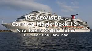 carnival magic spa deck 12 you were warned cabin tour youtube