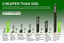 Sod Estimate by Cheaper Than Sod Synthetic Grass Artificial Lawn Turf