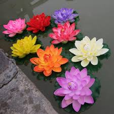 artificial flower bouquets artificial floating lotus flowers garden aquarium floating lotus