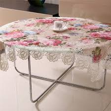 tablecloth for oval dining table colorful pastoral silk fabrics peony jacquard round dining table