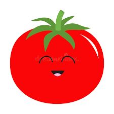 tomato with leaves icon red color vegetable collection fresh