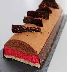 recette de cuisine legere bûche légère chocolat noisette framboise les meilleures recettes