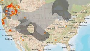 map of oregon smoke wildfire smoke produces much of columbia and the