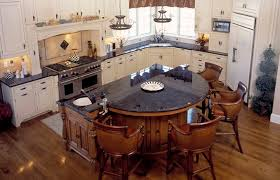 rounded kitchen island bar in kitchen kitchen with brown antique granite