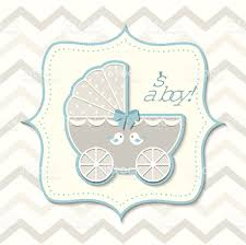 abstract vintage boy stroller baby shower stock vector art