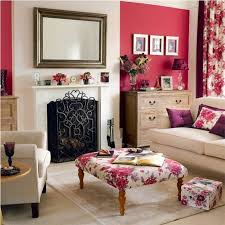 Curtains With Red Floral Curtain And Table For Living Room With Fireplace Using Red