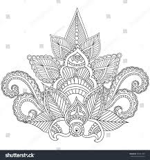 coloring pages adults henna mehndi doodles stock vector 395241409