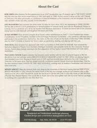 Degree In Home Design Ann Arbor Civic Theatre Program Broadway Bound June 22 1994