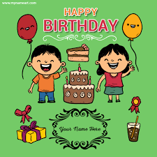 birthday cards for kids create birthday wishes card for kids children s wishes greeting card