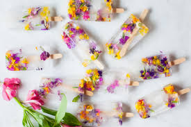 these flower ice pops are almost too beautiful to eat garden