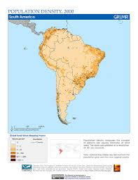 The Map Of South America by Maps Population Density Grid V1 Sedac