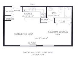 cool efficiency apartment floor plans images decoration ideas