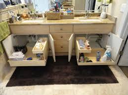 shelfgenie of portland pull out shelves increase bathroom storage