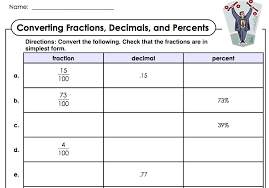 Worksheet On Converting Fractions To Decimals Wednesday December 2nd Sections 2 1 2 3 Converting Fractions