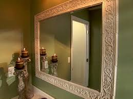 Oak Framed Bathroom Mirror How To Build A Frame Around A Bathroom Mirror Large And